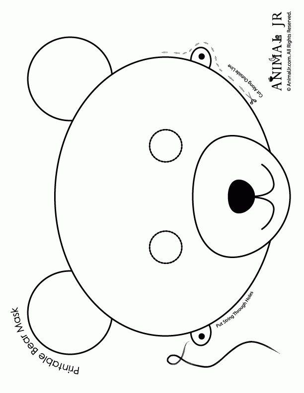 Printable Animal Masks: Bear Mask - Woo! Jr. Kids Activities
