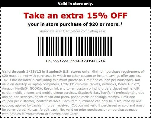 STAPLES COPY AND PRINT COUPON - cikes daola