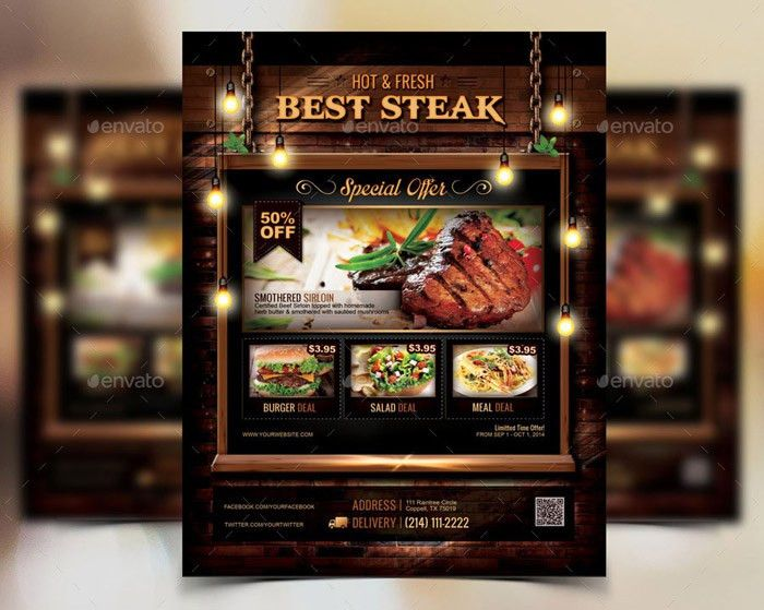 20 + Delicious Looking Restaurant Flyer Templates
