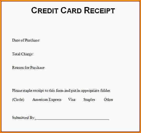 6+ credit card template   Letter Template Word