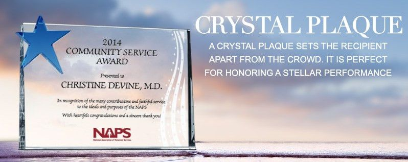 Personalized Crystal Plaques by Style | DIY Awards