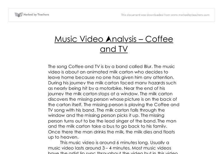 Media Music Video Analysis Example | EDU-ESSAY