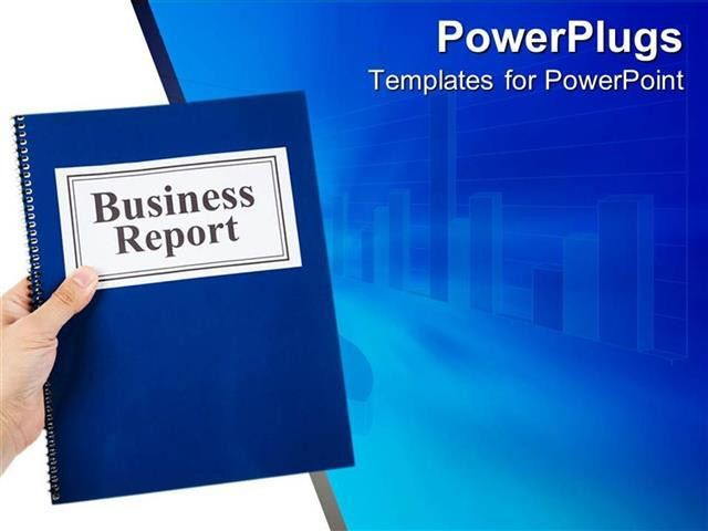 PowerPoint Template: business theme with hand holding blue ...