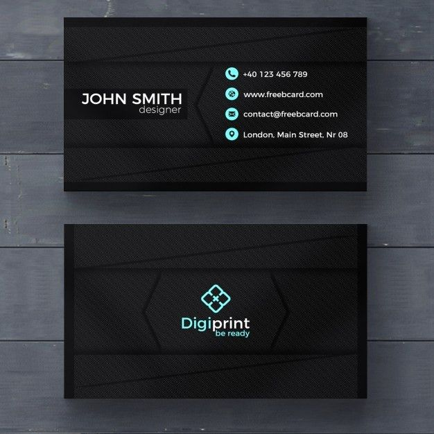 Dark business card template PSD file | Free Download