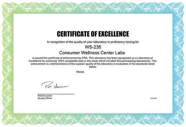 Health Ranger's analytical laboratory just awarded Certificate of ...