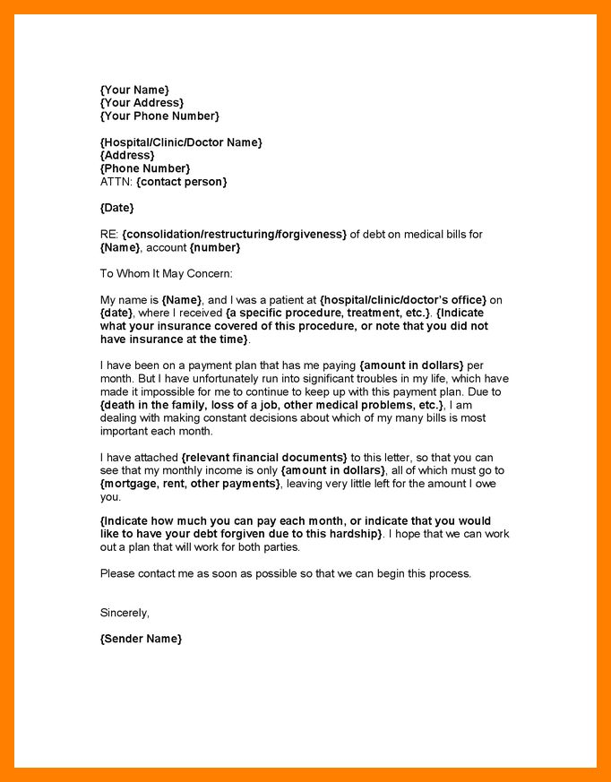4+ medical letter template | resumes great
