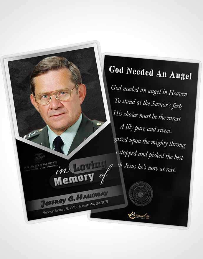 Obituary Template Trifold Brochure 1st Marines The Few The Proud ...
