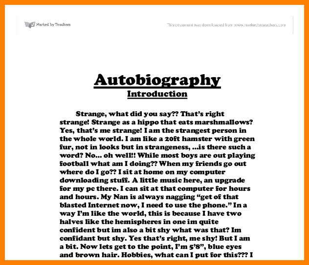 5+ self biography essay example | buyer resume