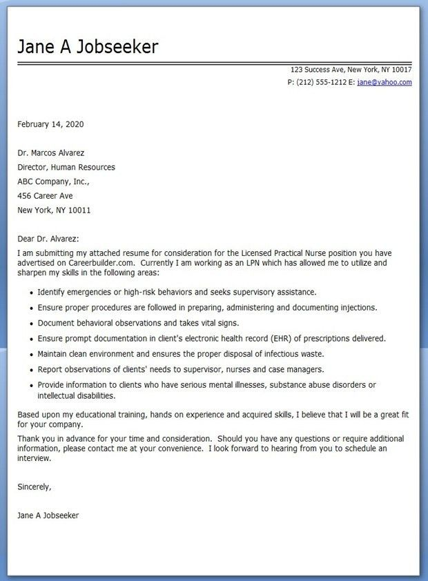 Nursing cover letter Cover letters and Nursing covers on Pinterest ...