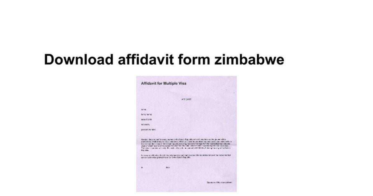 Download affidavit form zimbabwe - Google Docs