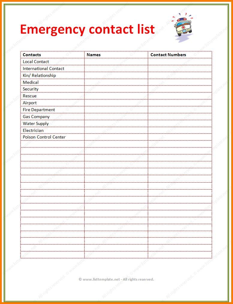 5+ phone list template | Receipt Templates