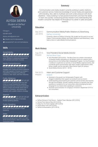 Social Media Director Resume samples - VisualCV resume samples ...
