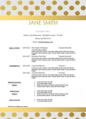 10 best Creative Resume Templates images on Pinterest | Creative ...