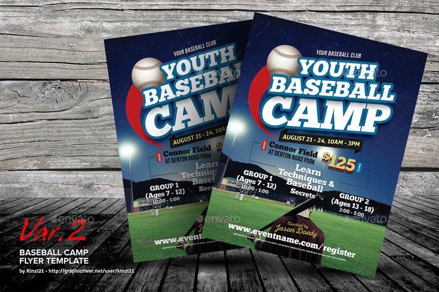 Baseball Camp Flyer Templates by kinzi21   GraphicRiver