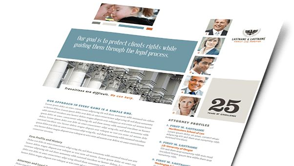 Legal Services Brochures & Flyers - Word & Publisher Templates