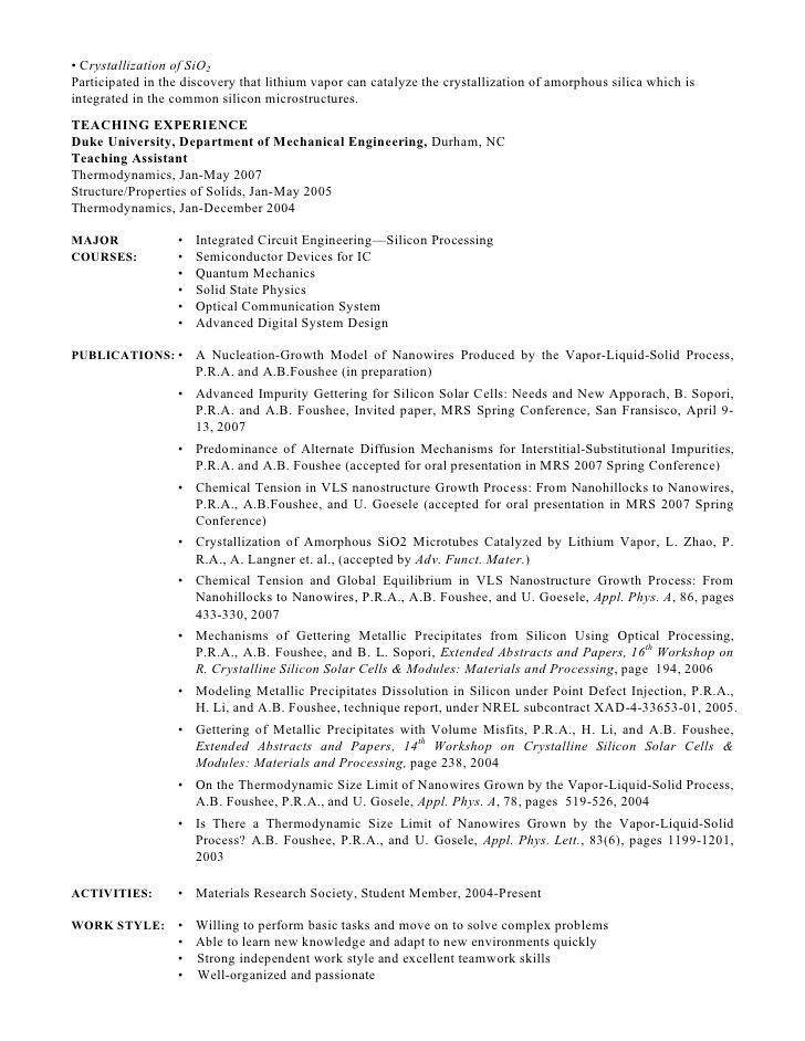 PhD CV: Postdoctoral Research