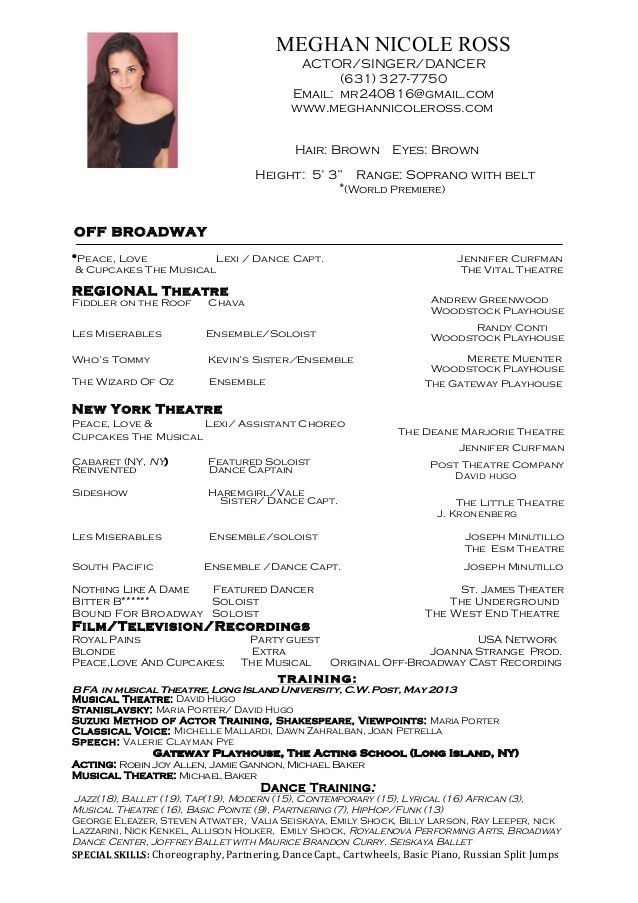 Download Dance Resume | haadyaooverbayresort.com