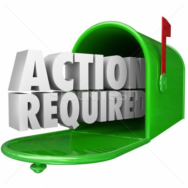 Action Required Message Mailbox Urgent Notice Legal Document stock ...