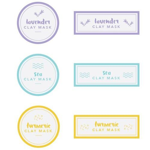 Clay Mask Label Templates - Free PDF
