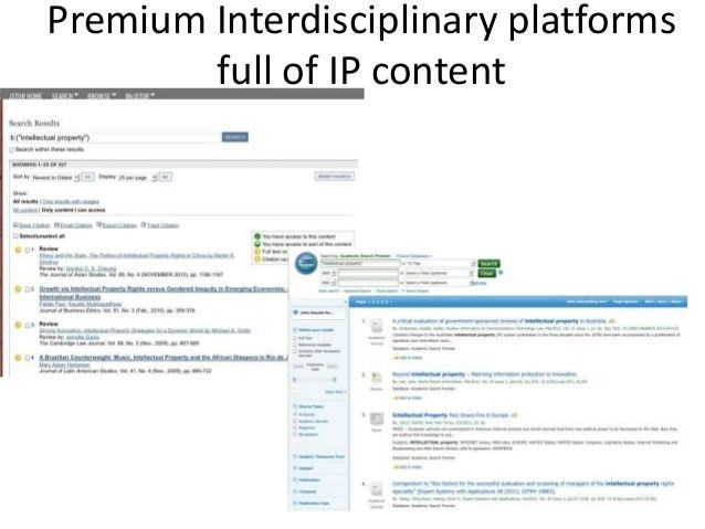 Introduction to IP Research Tools & Strategies