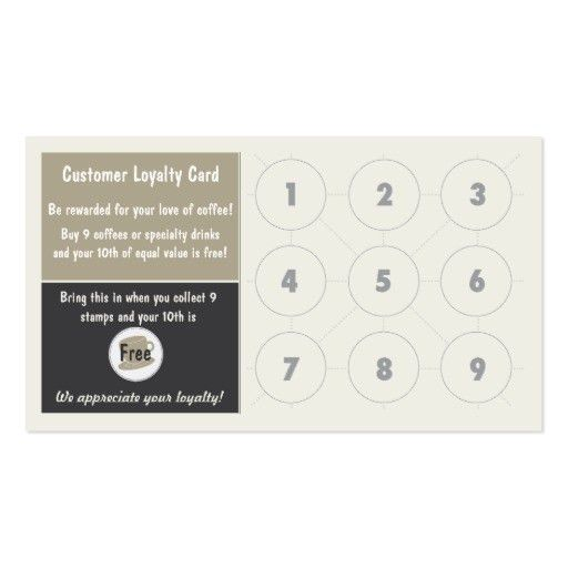 Custom Card Template » Loyalty Card Free Template - Free Card ...