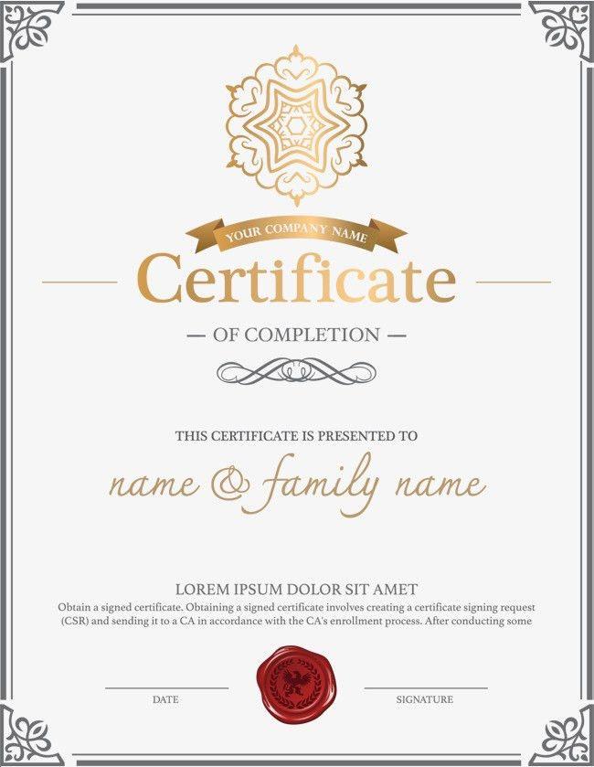 Atmosphere Retro European Style Border Certificates, Diploma ...