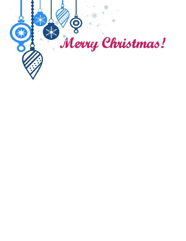 free christmas letter template