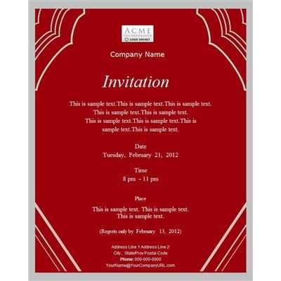 Invitation Template Business | http://webdesign14.com/