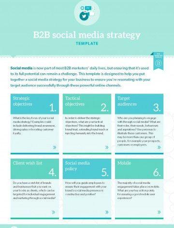 TEMPLATE: B2B social media strategy   B2B Marketing