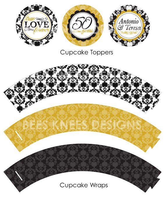 Printable 50th Wedding Anniversary Printable party pack banner ...