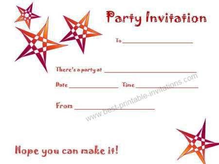 Birthday Party Invitations Free Templates – gangcraft.net