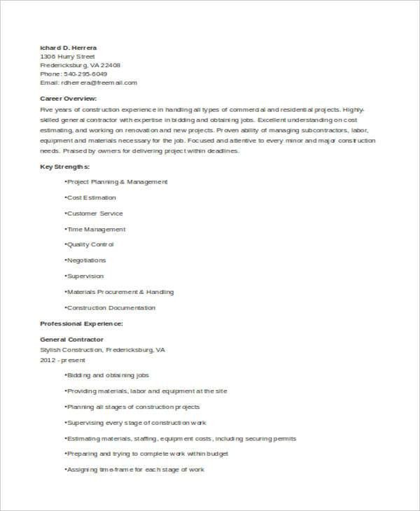 General Resumes - 8+ Free Word, PDF Format Download | Free ...