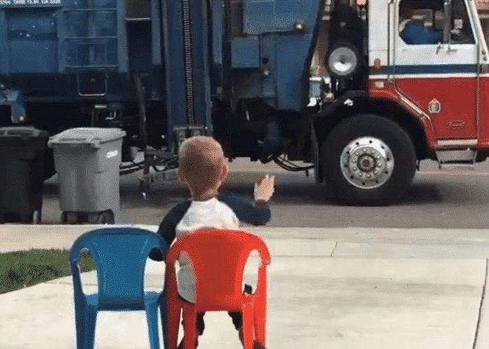 VIDEO: California Kid Adores Garbage Truck Driver | CDLLife
