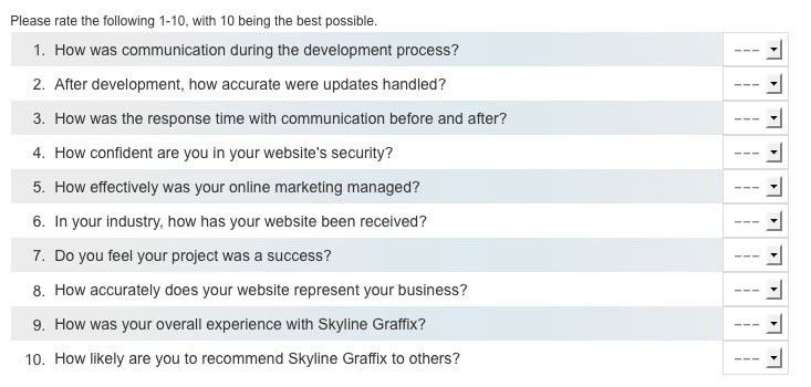 Completing the Skyline Graffix Client Questionnaire | Skyline Graffix