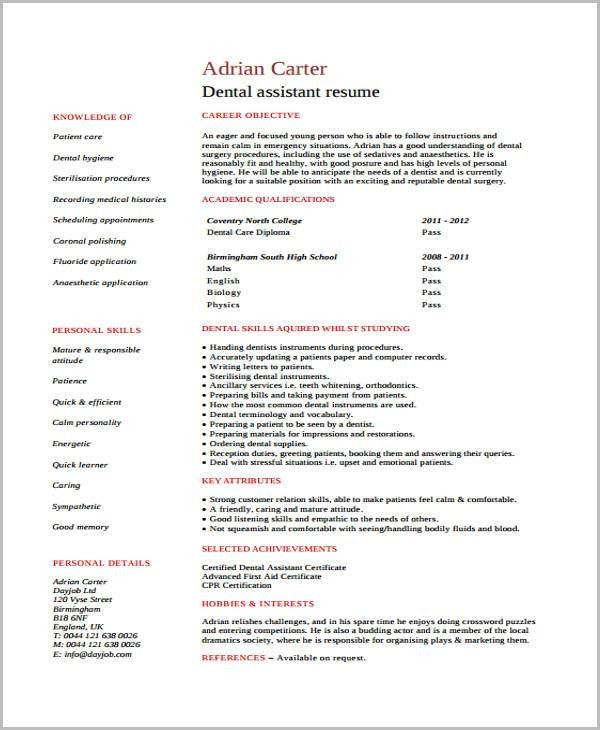 no experience catering assistant resume. dentist cv sample. resume ...