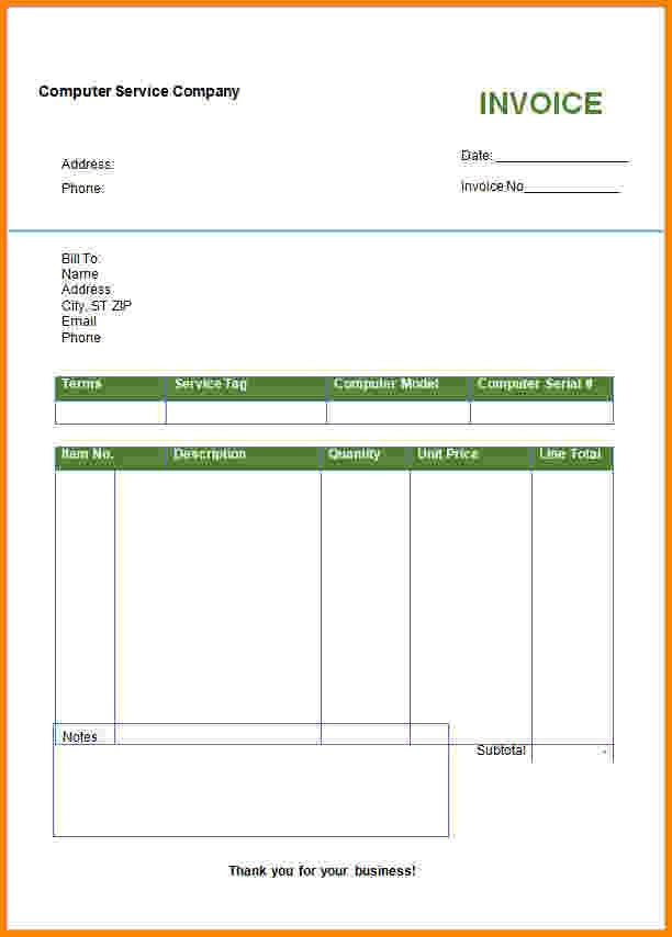 Invoice Template Editable. free invoice templates for word excel ...