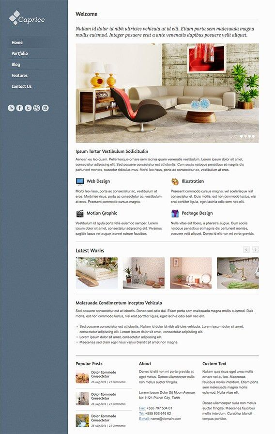 Caprice - Free HTML Template