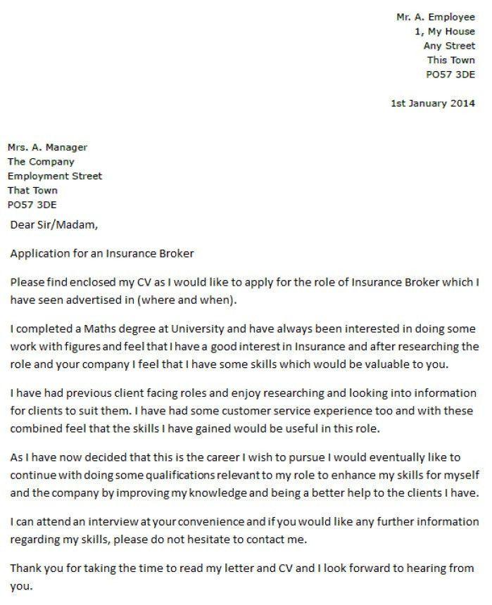 Lumber Broker Cover Letter