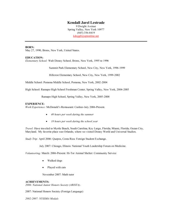 Best Fast Food Restaurant Cashier Resume Sample for Employment ...