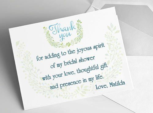 Bridal Shower Thank You Cards – Sample Wording, Tips and Etiquette ...
