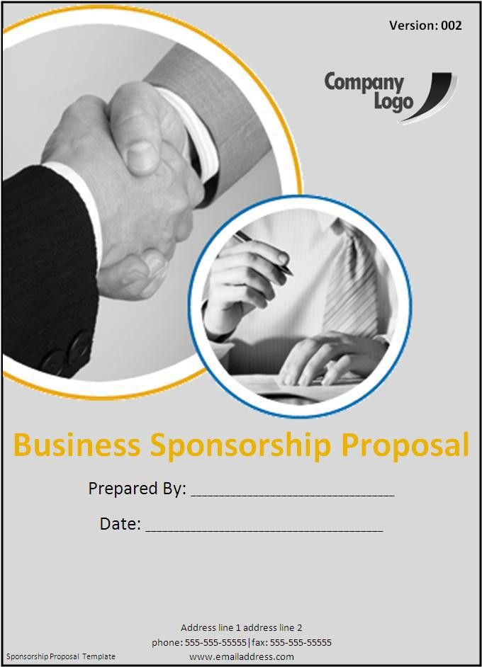 Sponsorship Proposal Letter For Events