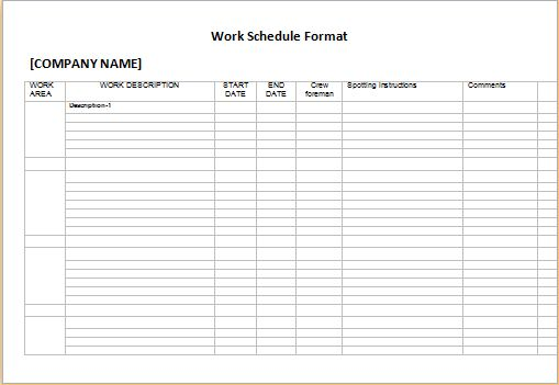 Professional Work and Marketing Campaign Schedules | Word Document ...