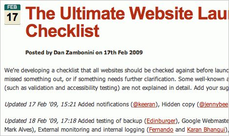 45 Incredibly Useful Web Design Checklists and Questionnaires