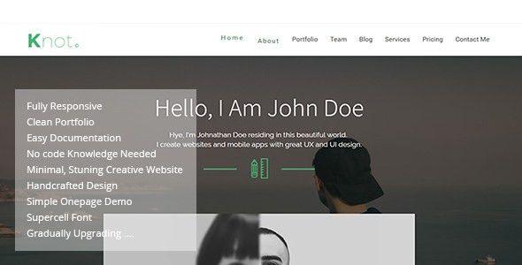 Knot - Responsive Resume CV Portfolio Template by codeand-design ...