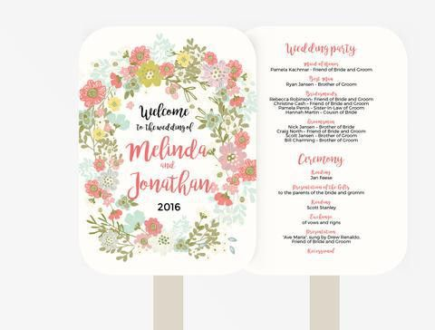Wedding Program Booklet DIY | Editable MS Word Template | Floral ...