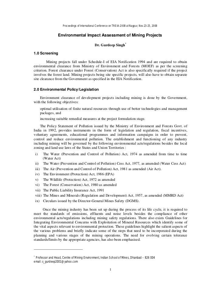 Environmental Impact Statement Template - Contegri.com