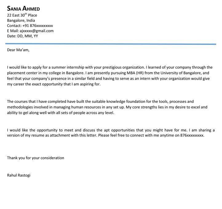 Internship Letter Format | Internship Certificate Sample - Naukri.com