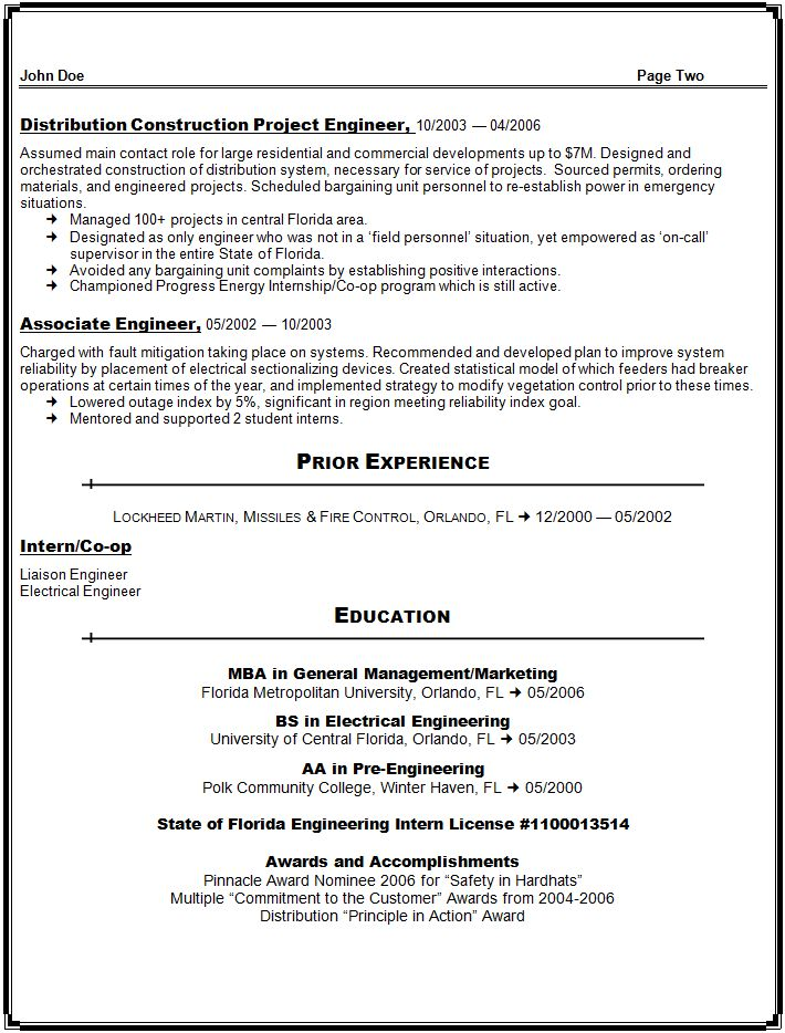 Federal Resume Sample And Format \u2013 The Resume Place with regard to