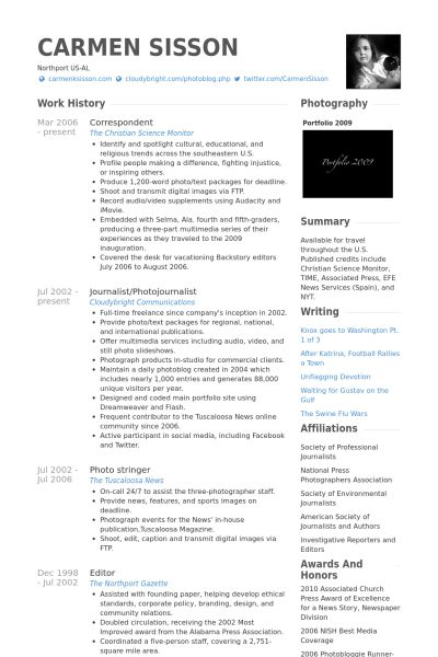 radio host resume