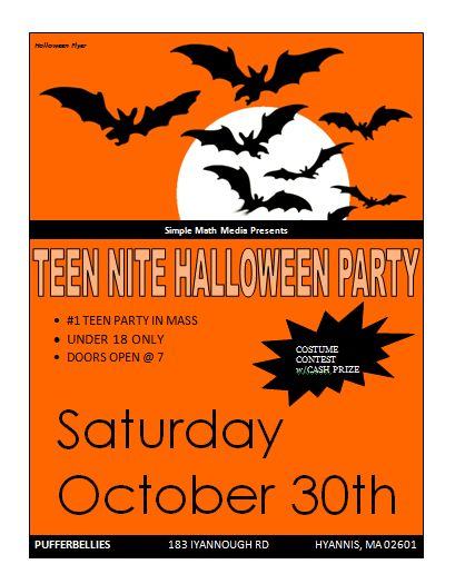 Halloween party flyer | Microsoft Word Templates